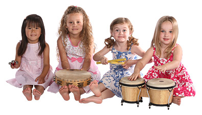 kids with music